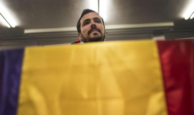 Alberto Garzón, en el acto celebrado en Córdoba.