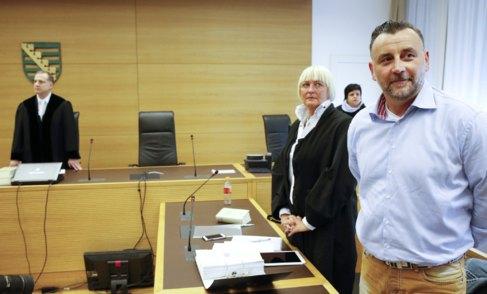 Lutz Bachmann, fundador de Pegida, en el juicio por delitos de...