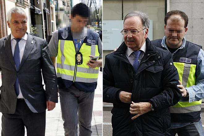 Luis Pineda (izqda.) y Miguel Bernad, durante su detención.