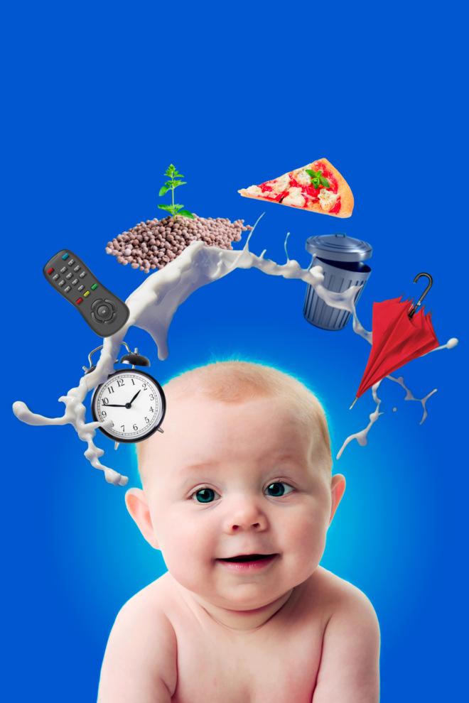 Imagen que representa cómo la leche materna ofrece los nutrientes y...