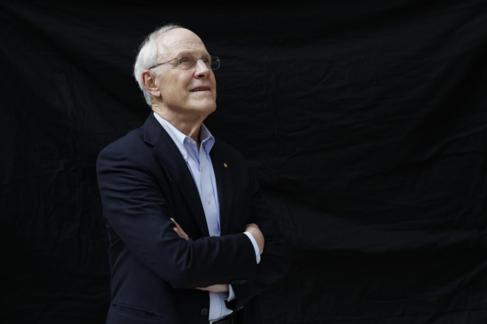 David Gross, durante su visita a Madrid.