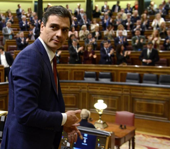 Pedro Sánchez, el martes, en el Congreso de los Diputados.