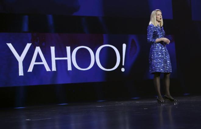 La CEO de Yahoo, Marissa Mayer en la anual 'Consumer Electronics...
