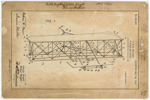 Dibujo incluido en la patente original de 1903.