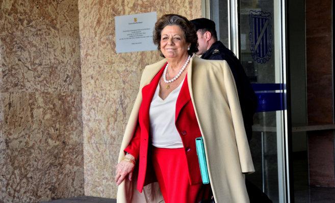 La ex alcaldessa de Valencia Rita Barberá tras declarar recientemente...