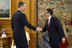 El Rey Felipe VI recibe a Patxi López en el Palacio de la Zarzuela.