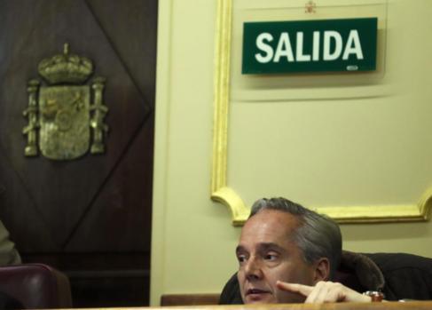 Pedro Gómez de la Serna, en el Congreso de los Diputados.