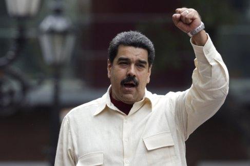 Nicolás Maduro en un evento por el 206º aniversario de la...