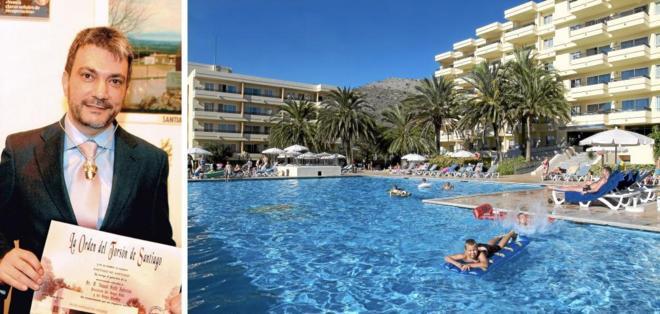 Jamal Satli Iglesias y uno de los hoteles de la cadena Hotetur, filial...