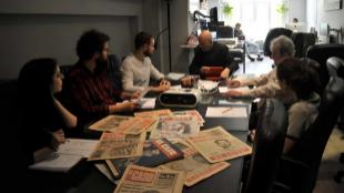 Reunión de los periodistas de 'El Caso', presidida por su director...