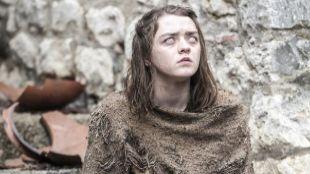 La actriz Maisie  Williams, en el papel de Arya Stark, en la sexta...