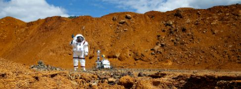 Simulacro de la explotación humana en Marte en Riotinto (Huelva).