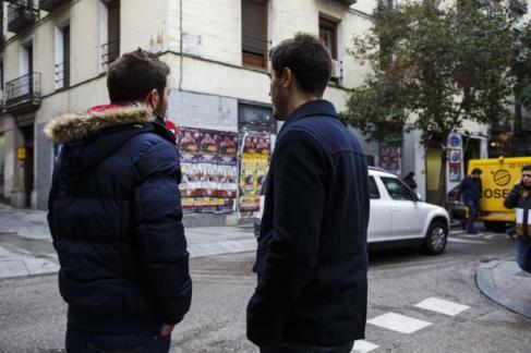 Pareja que sufrió una agresion homófoba en calle Hortaleza el pasado...