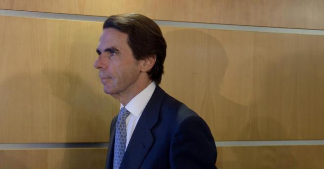 José María Aznar, el pasado noviembre en la sede de la Comisión...