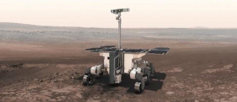 Recreación artística de la exploración de Marte (Exomars) de la...