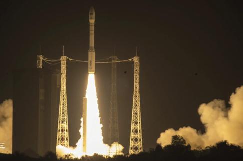 Despegue del Sentinel 2-A, cohete gemelo del Sentinel-1B, lanzado en...