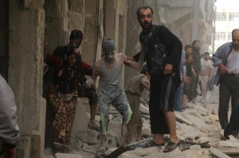Varios heridos después de un ataque aéreo en Alepo