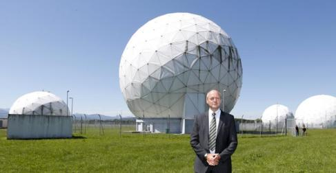 Schindler, ante la NSA cerca de Múnich en 2014.