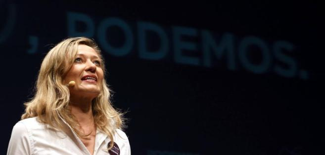 La diputada de Podemos, Victoria Rosell, en un acto del partido en...