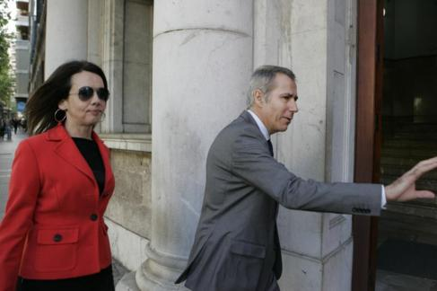 Los ex consellers de Matas, Rosa Puig y Joan Flaquer, llegan a los...