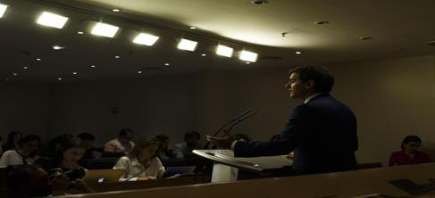 Albert Rivera, presidente de Ciudadanos, durante su comparecencia tras...