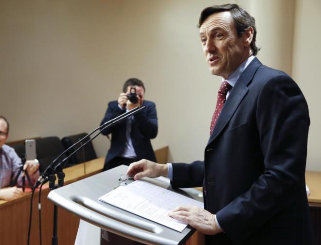 Rafael Hernando, hoy en el Congreso.