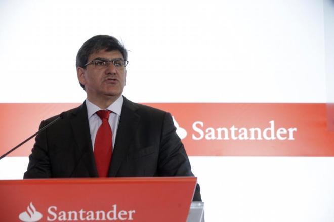 El consejero delegado del Banco Santander, José Antonio Álvarez,...