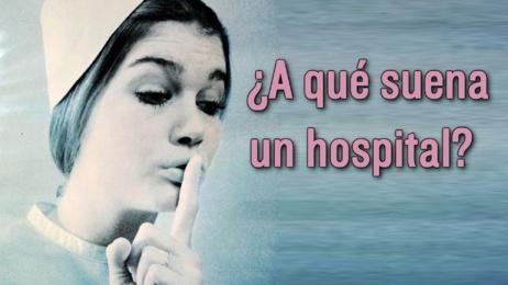 Cartel de los años 60 en el que una enfermera pide silencio.