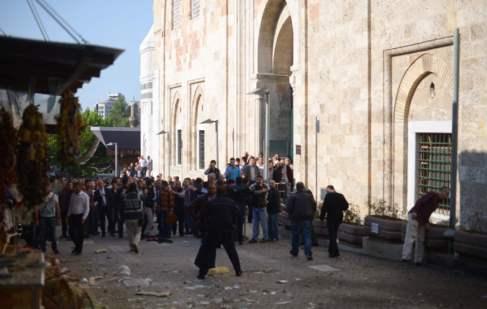 La policía turca acordona la zona en la que una terrorista suicida ha...