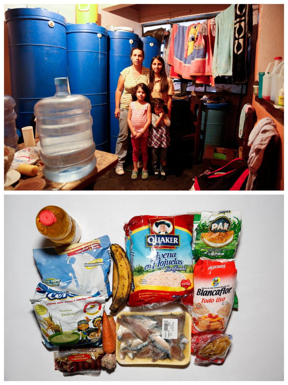 """Yaneidy Guzmán y sus hijas Steffany y Fabiana Pérez. """"Comer ahora es..."""
