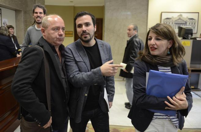 Alberto Garzón este miércoles en el Congreso.