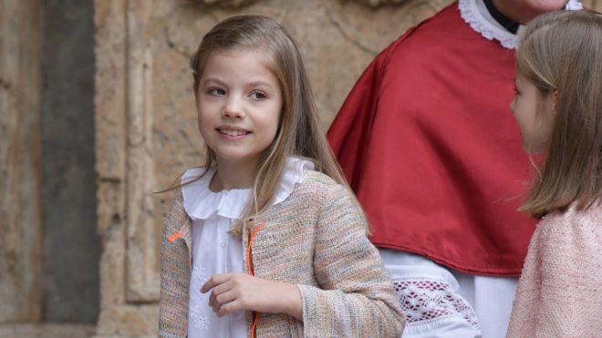 Los 9 Anos De Sofia La Infanta Que Salvo A La Reina Letizia De La