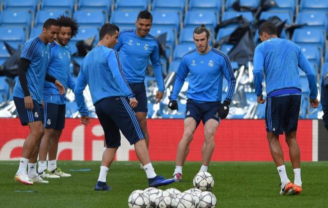 Un entrenamiento del Real Madrid.