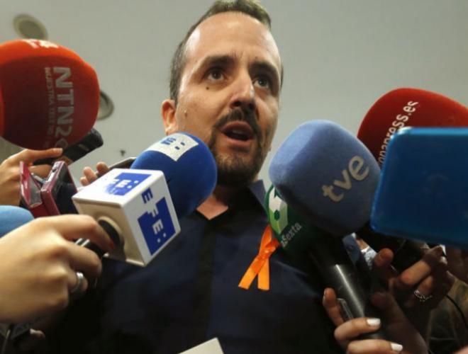 El responsable estatal de políticas mediáticas de Podemos, Miguel...
