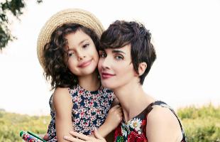 La actriz Paz Vega con su hija Ava.