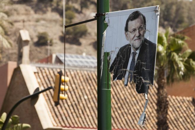 Mariano Rajoy, en un cartel de las elecciones generales del 20 de...