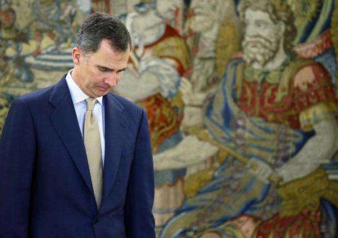 Felipe VI, en la Zarzuela en la tercera ronda de consultas tras las...