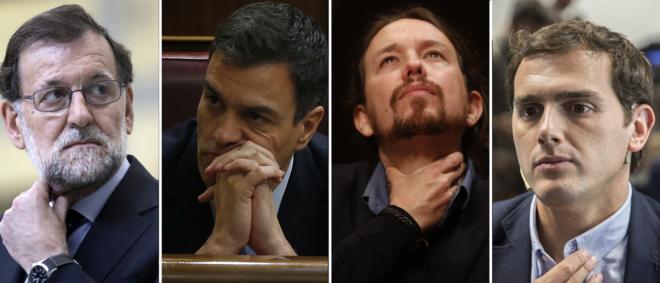 Rajoy, Sánchez, Iglesias y Rivera, los candidatos que repetirán el...