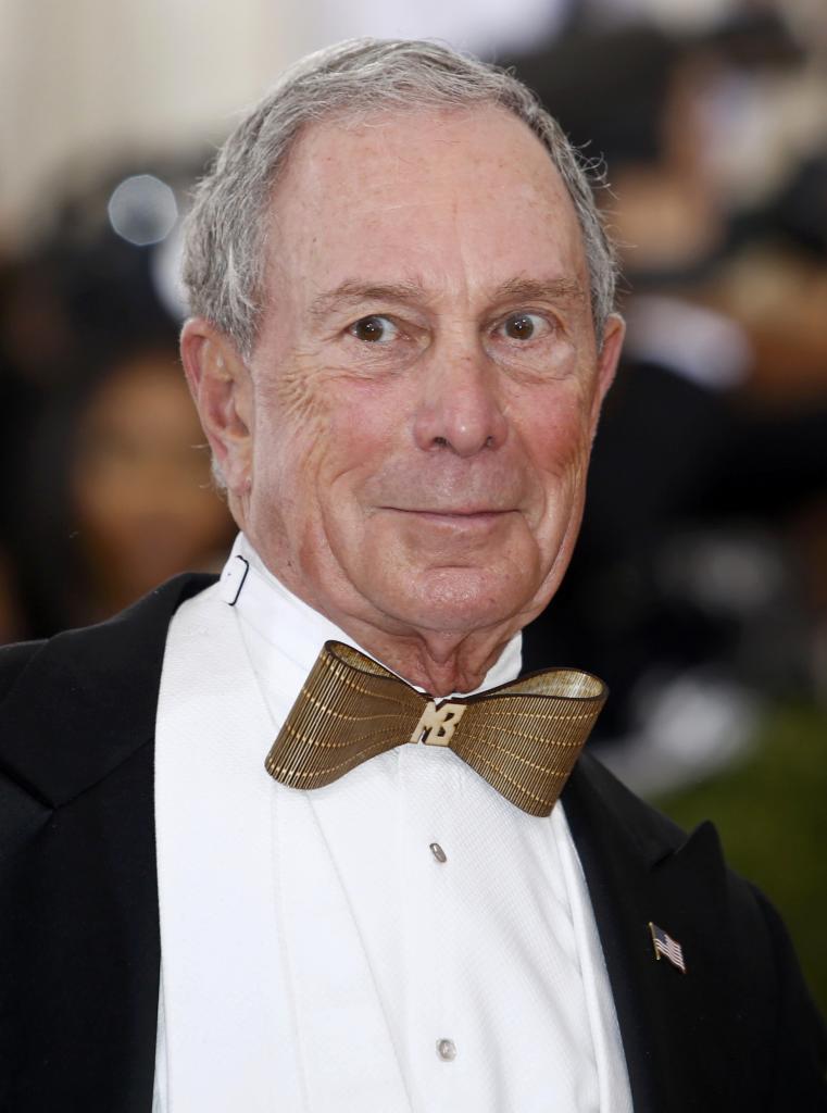 Michael Bloomberg, ex alcalde de Nueva York, no quiso perderse la...