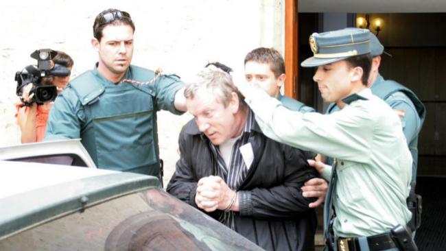 El capo de la mafia Gennadios Petrov, en el momento de su detención...