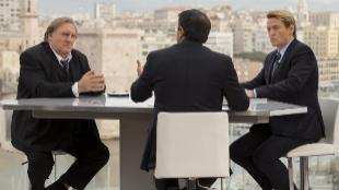 Los actores franceses Gérard Depardieu (izda.) y Benoît Magimel, en...