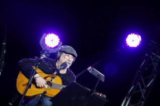 El cantante cubano Silvio Rodríguez durante el concierto.