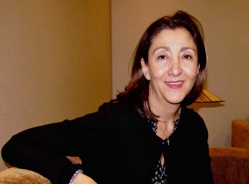 La ex candidata presidencial, Ingrid Betancourt, en su visita en...