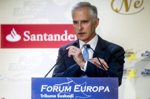 Juan Ignacio Vidarte durante su intervención en el Forum Europa.