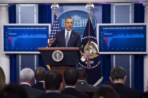 Barack Obama, este viernes en la Casa Blanca para advertir sobre...