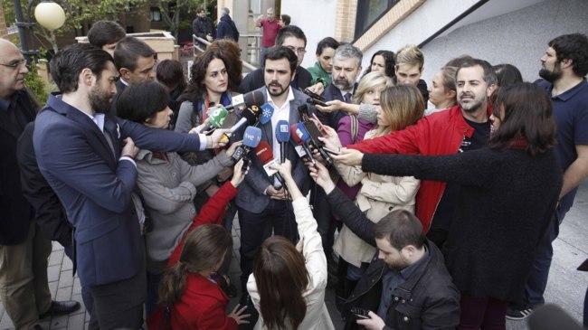 Garzón atiende a los medios antes del Consejo Político Federal de...