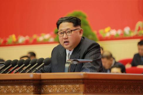 Kim Jong-un habla de las acciones del Partido de los Trabajadores, el...