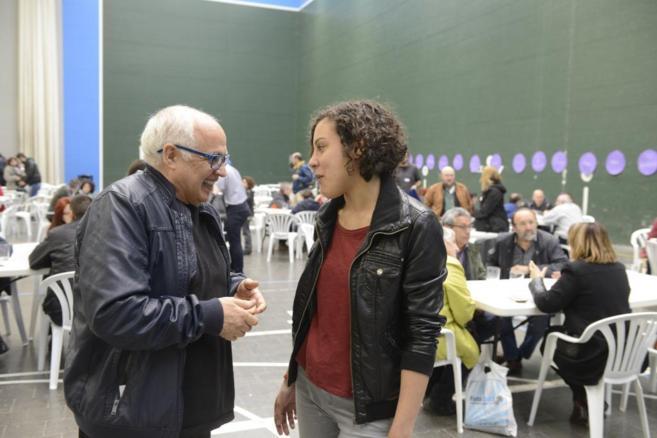 La secretaria general de Podemos Euskadi, Nagua Alba, en el encuentro...