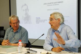 Ignacio Latierro y Josu Ugarte, en la conferencia del pasado viernes...