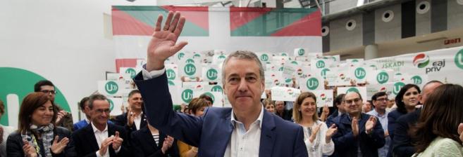El lehendakari, Iñigo Urkullu, ayer en la asamblea del PNV en...
